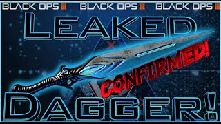 BO3 DAGGER CONFIRMED EVIDENCE! SECRET LEAKED DAGGER BO3 VIDEO REAL! (Late Cod news)