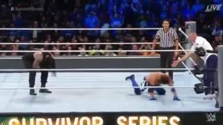 Roman Reigns BIG SPEAR to Shane McMahon at Survivor Series 2016 RAW vs. SmackDown LIVE