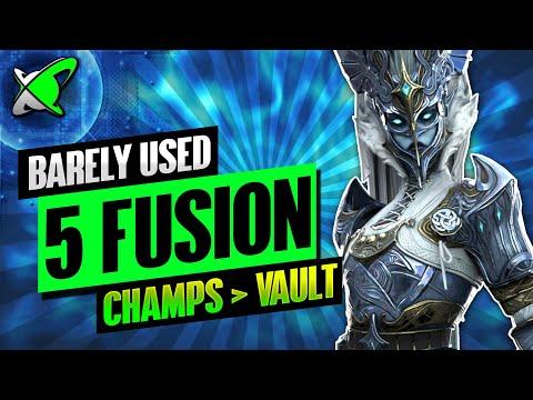 5 FUSION CHAMPIONS... I BARELY USED | My Vault Champions | RAID: Shadow Legends