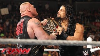 Roman Reigns confronts Brock Lesnar face to face: Raw, March 23, 2015 width=