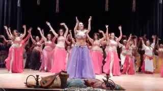 Dança Shaabi Egípcia - Espetáculo Mistérios do Oriente - Studio de Danças Aida Gamal - Encerramento