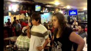 Eu i o António a cantar no Santinho