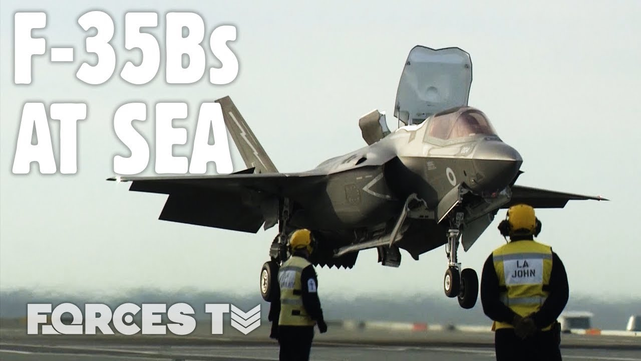 British F-35Bs Fly From HMS Queen Elizabeth