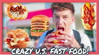 TRYING CRAZY AMERICAN FAST FOOD!