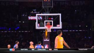 Nick Young celebrates 3 point miss