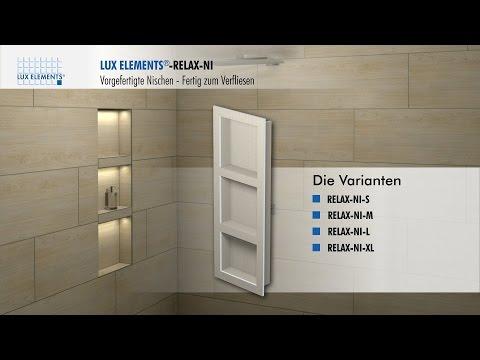 LUX ELEMENTS Montage: vorgefertigte Nischen RELAX-NI für den Einbau in eine Wand