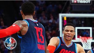 Westbrook, Adams and George combine for 85 points in Thunder's win vs. Kings | NBA Highlights