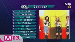 What are the TOP 10 Songs in 2nd Week of March? [M COUNTDOWN] 160310 EP.464