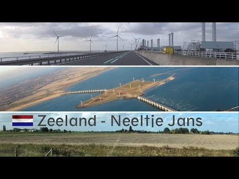 Driving to Zeeland from South-Holland – Island 'Neeltje Jans'