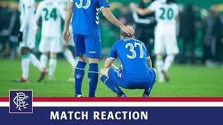 REACTION   Scott Arfield   Rapid Vienna 1-0 Rangers
