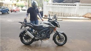 Pulsar NS200 modified as Triumph Tiger 800 | BIGBANGBIKER | Modified Bikes of Bangalore - 1 width=