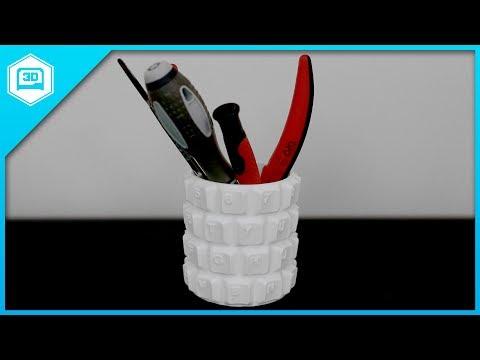 Customizable Keyboard Penholder by @ferjerez3d - 3D Printing Timelapse