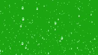 Rain green screen chroma effect