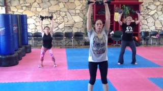 Kickboxing Class, Workout with weights at Panther Martial Arts | Camarillo