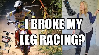 Road to recovery | How I broke my leg riding a dirtbike - injury update, story time, what now?