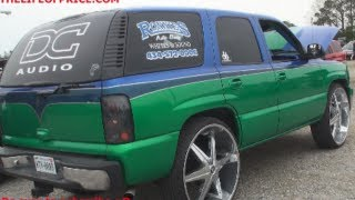 DANIEL CREWS TRICKED OUT TAHOE! 9KW ON 4 XL 18S @ THE JEFF LOCKHART MEMORIAL SHOW!