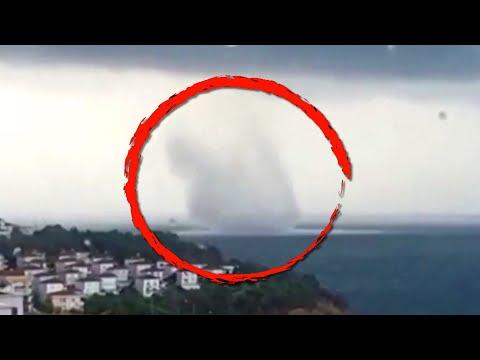 Huge Waterspout Spotted Near Seaside Town