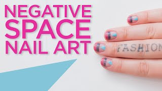 Negative Space Nail Art!