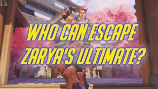 Overwatch - Who can escape Zarya's ultimate?