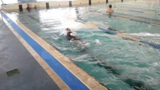 Julian swimming