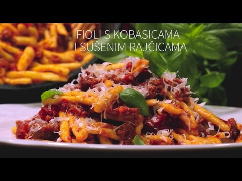 Fioli s kobasicama i sušenim rajčicama - Fini Recepti by Crochef