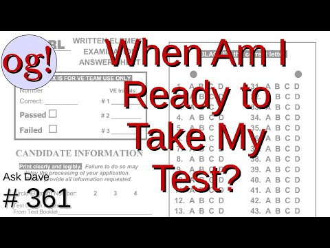 When Am I Ready to Take My Ham Test? (#361)
