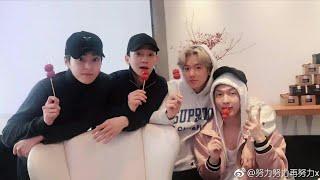 (171214) EXO CBX Meet Up Yixing Before Back To Korea