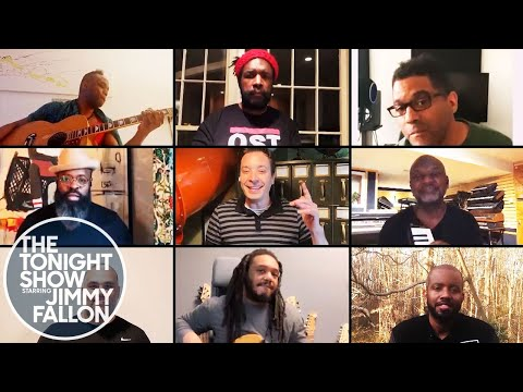 """Jimmy and The Roots Cover """"Stuck in the Middle with You"""" from their Homes"""