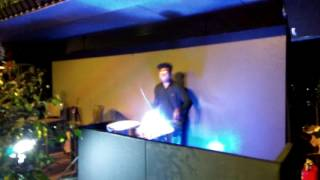 Vineet bhaskar liquid drumming with live dj/percussion