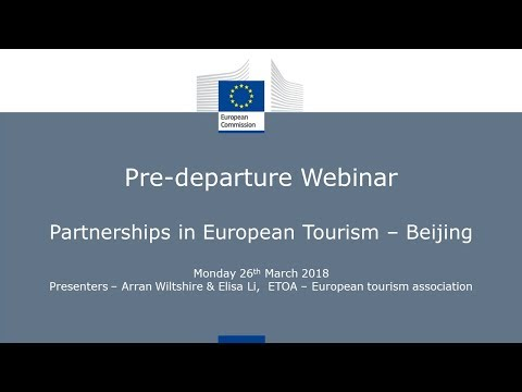 Partnerships in European Tourism - Beijing | Pre-departure Webinar