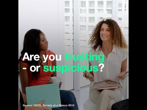 Are you trusting   or suspicious    It could depend on where you live