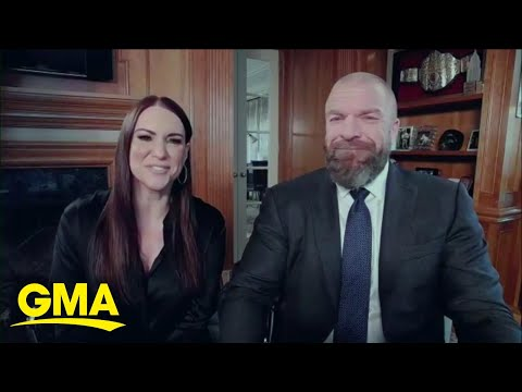 WWE stars Triple H and Stephanie McMahon on a mission to find WWE memorabilia l GMA