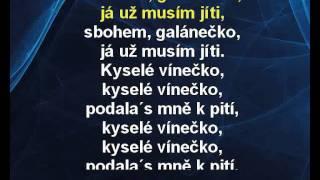 Vlasta Redl - Sbohem galánečko (karaoke z www.karaoke-zabava.cz)