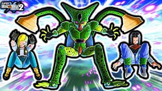 NEW DBZ ANIMATED CELL ABSORBS ALL SKILL! Dragon Ball Xenoverse 2 All Cell Transformations 17 & 18