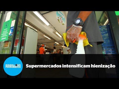 Supermercados intensificam práticas de higienização durante pandemia