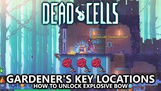 Dead Cells - Gardener's Key Locations (All 3) Guide - How to Unlock Explosive Crossbow
