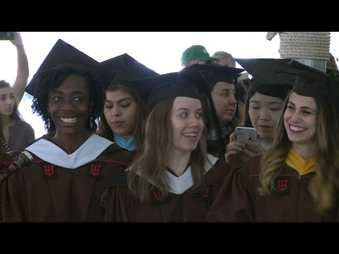 Getting Ready for the 2017 Master's Commencement Ceremony at Brown University