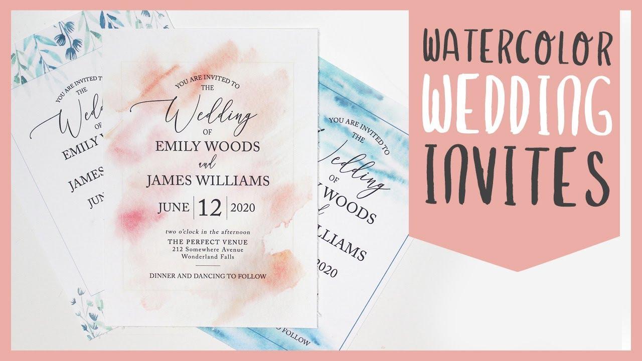 3 Easy DIY Watercolor Wedding Invitations