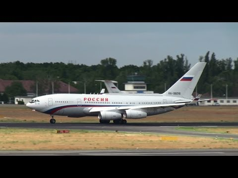 """Russian """"Air Force One"""" Il-96 Takeoff at Berlin Tegel Airport HD (1080p)"""