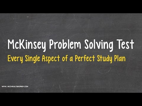 McKinsey PST 101 - The Perfect Study Plan to Prepare for the Test