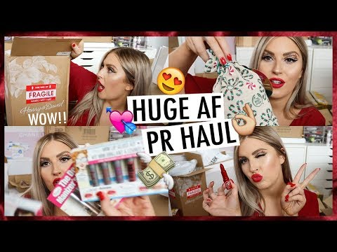 PR Unboxing Haul & Giveaway! ?? Christmas Gifts & NEW Makeup!