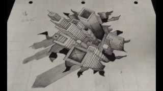 Drawing a Hole -City Illusion (Time-lapse)