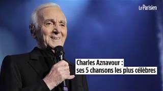 Charles Aznavour : ses cinq chansons les plus célèbres