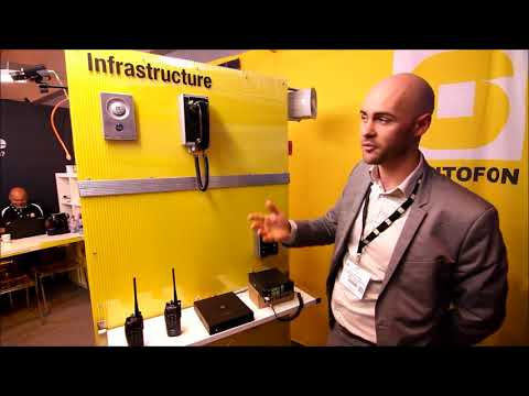 Infrastructure demonstration by STENTOFON on day 4 at IFSEC 2013