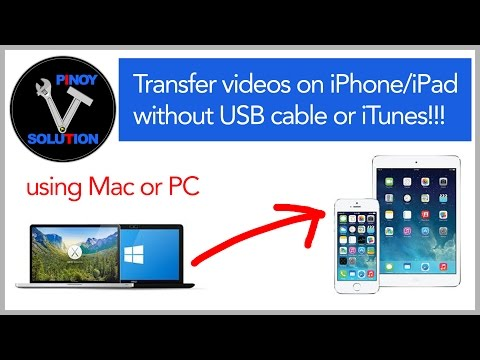 How to transfer movies from MAC or PC to your iPhone / iPad without using USB cable or iTunes