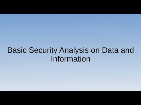 Basic Security Analysis on Data and Information | Tom Banaria | #Newsहैकर | Nullcon Goa 2020