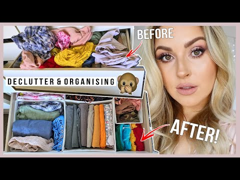 decluttering & organising my clothes! ? storage idea and TRANSFORMATION!