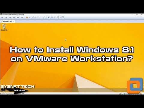 How to Install Windows 8.1 using VMware Workstation