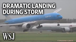 Dramatic Video Shows Plane Landing During Violent Storm