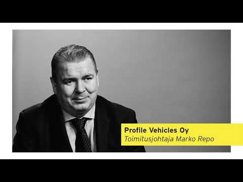 """Yhdellä lauseella kuvattuna: """"Profile Vehicles suojaa ja turvaa elämää."""" Profile on suomalainen, nykyisin kansainvälisesti tunnettu erikoisajoneuvojen suunnittelija ja valmistaja, joka toimittaa ajoneuvoja maailmanlaajuisesti. Yrittäjä: Marko Repo"""